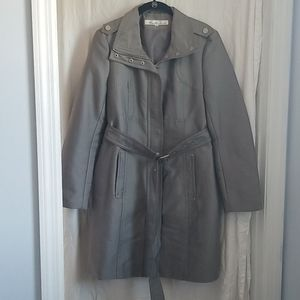 Kenneth Cole silver trench coat